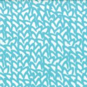 Moda Sphere by Zen Chic - 3183 - Turquoise Abstract Squiggle on Off-White - 1547 11 - Cotton Fabric